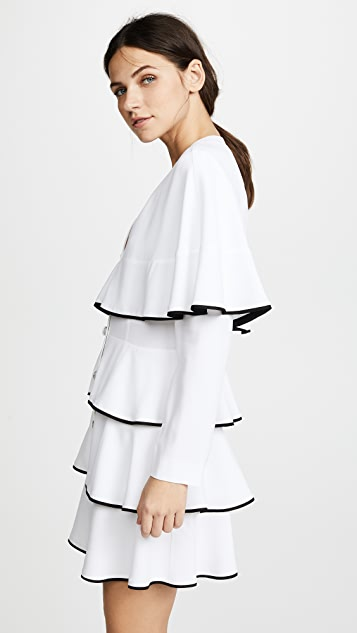 Philosophy di Lorenzo Serafini Ruffle Mini Dress