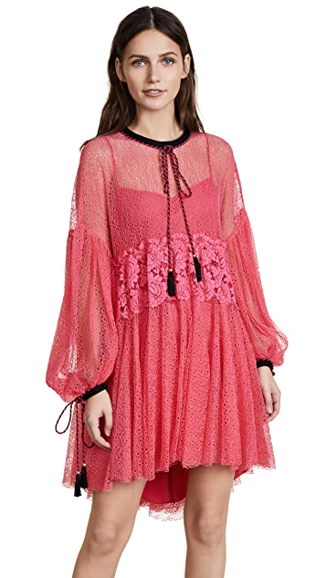 Philosophy di Lorenzo Serafini Long Sleeve Peasant Sleeve Dress