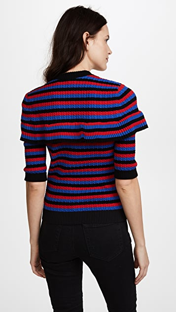 Philosophy di Lorenzo Serafini Striped Short Sleeve Sweater