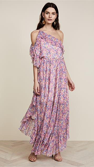 Philosophy di Lorenzo Serafini Star Print Asymmetrical Dress