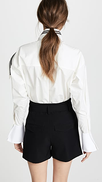 Philosophy di Lorenzo Serafini Tie Neck Blouse