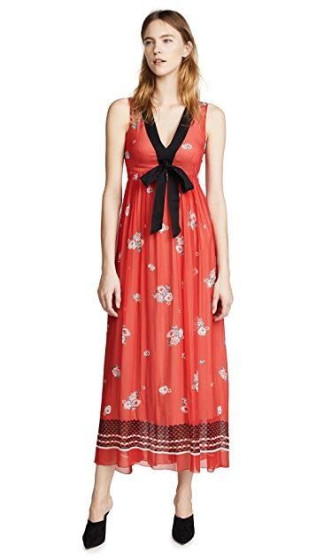 Philosophy di Lorenzo Serafini V Neck Tie Waist Dress
