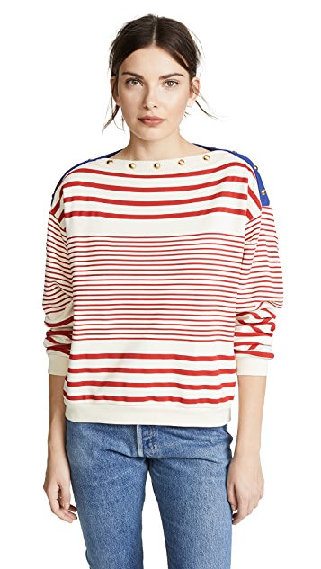 Philosophy di Lorenzo Serafini Striped Sweatshirt