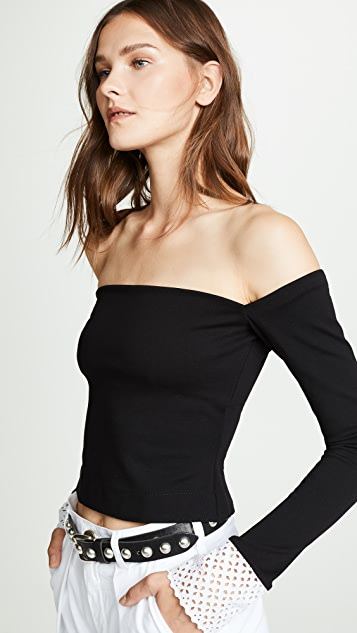 Philosophy di Lorenzo Serafini Off Shoulder Cropped Top