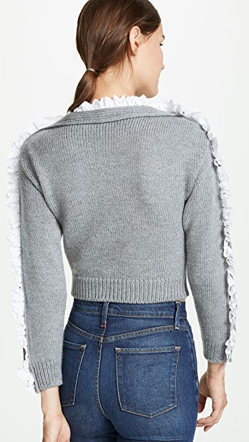Philosophy di Lorenzo Serafini Lace Trim Sweater