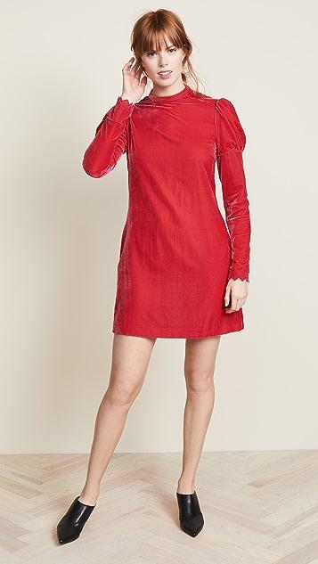 Philosophy di Lorenzo Serafini High Neck Velvet Dress