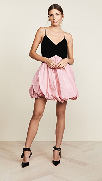 Philosophy di Lorenzo Serafini V Neck Two Tone Mini Dress