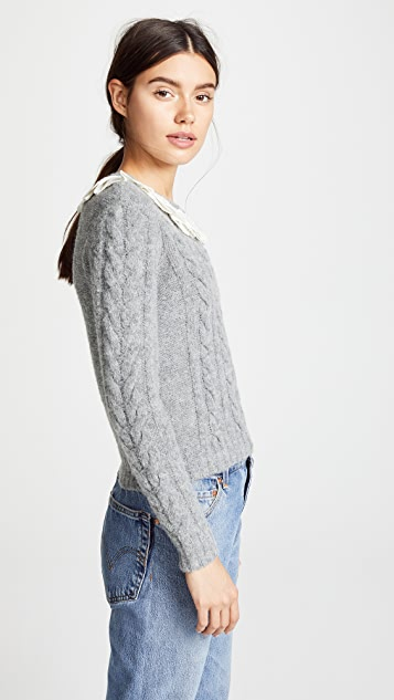 Philosophy di Lorenzo Serafini Lace Trim Sweater