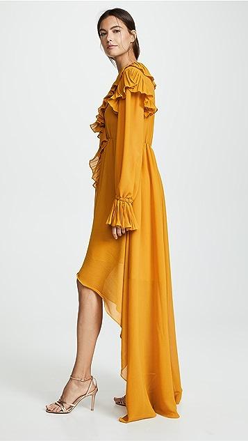 Philosophy di Lorenzo Serafini Ruffle High Low Dress