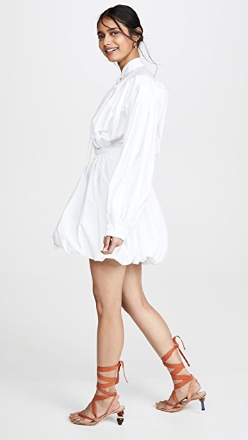 Philosophy di Lorenzo Serafini Tie Neck Puff Sleeve Mini Dress
