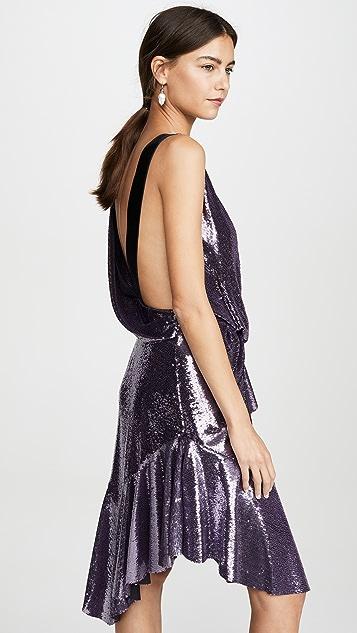 Philosophy di Lorenzo Serafini Коктейльное платье с запахом на талии с блестками