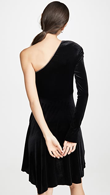 Philosophy di Lorenzo Serafini One Shoulder Velvet Mini Dress