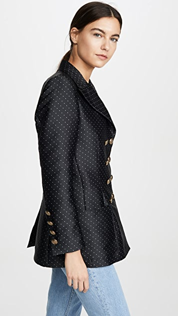 Philosophy di Lorenzo Serafini Double Breasted Mini Dot Blazer