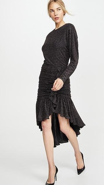 Philosophy di Lorenzo Serafini Long Sleeve Asymmetrical Dress