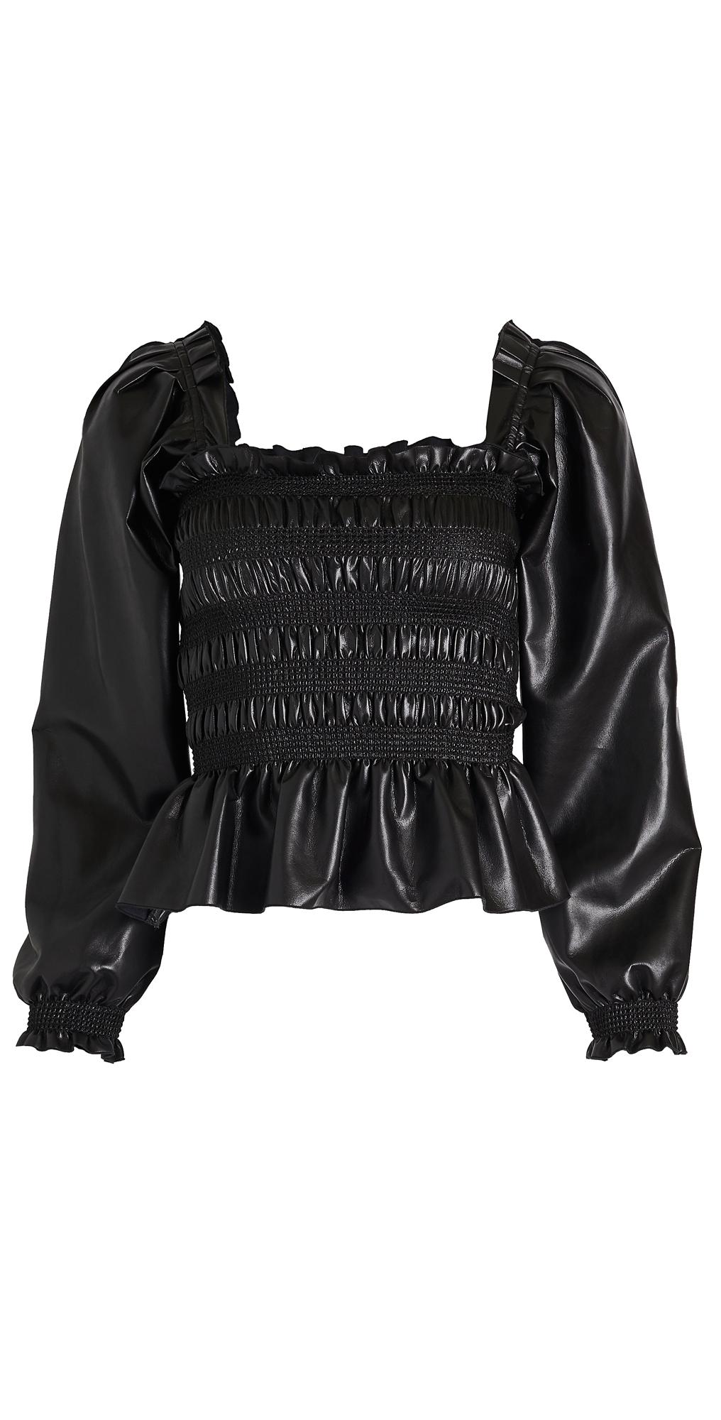 Philosophy di Lorenzo Serafini Faux Leather Blouse