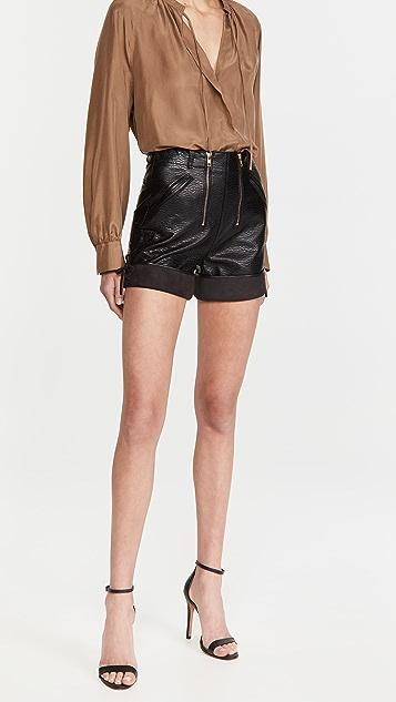 Philosophy di Lorenzo Serafini Eco-Leather Shorts