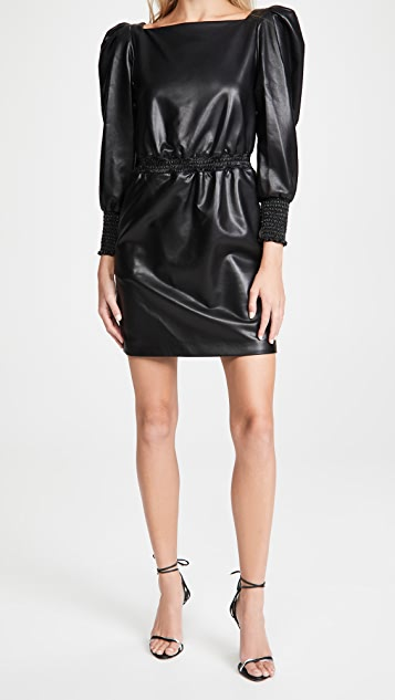 Philosophy di Lorenzo Serafini Eco-Leather Mini Dress
