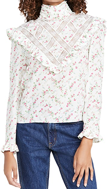Philosophy di Lorenzo Serafini Floral High Neck Blouse