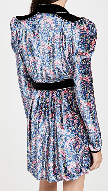 Philosophy di Lorenzo Serafini Velvet Floral Mini Dress