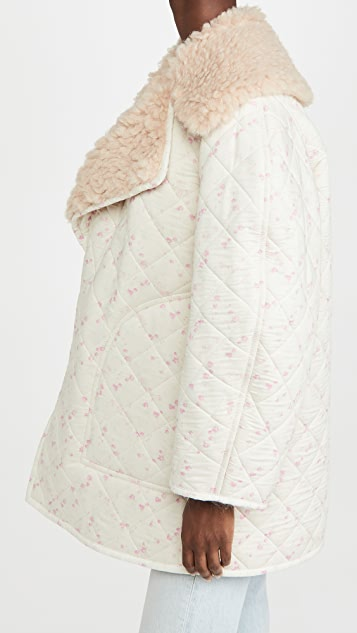 Philosophy di Lorenzo Serafini Floral Jacket with Sherpa