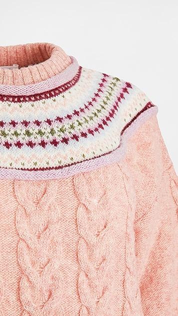 Philosophy di Lorenzo Serafini Pattern Collar Sweater