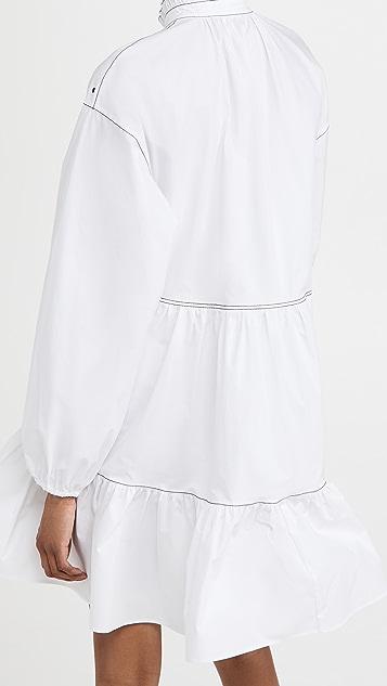 Philosophy di Lorenzo Serafini Stretch Poplin Embellished Dress