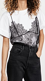 Philosophy di Lorenzo Serafini Cotton Tee with Lace Cami