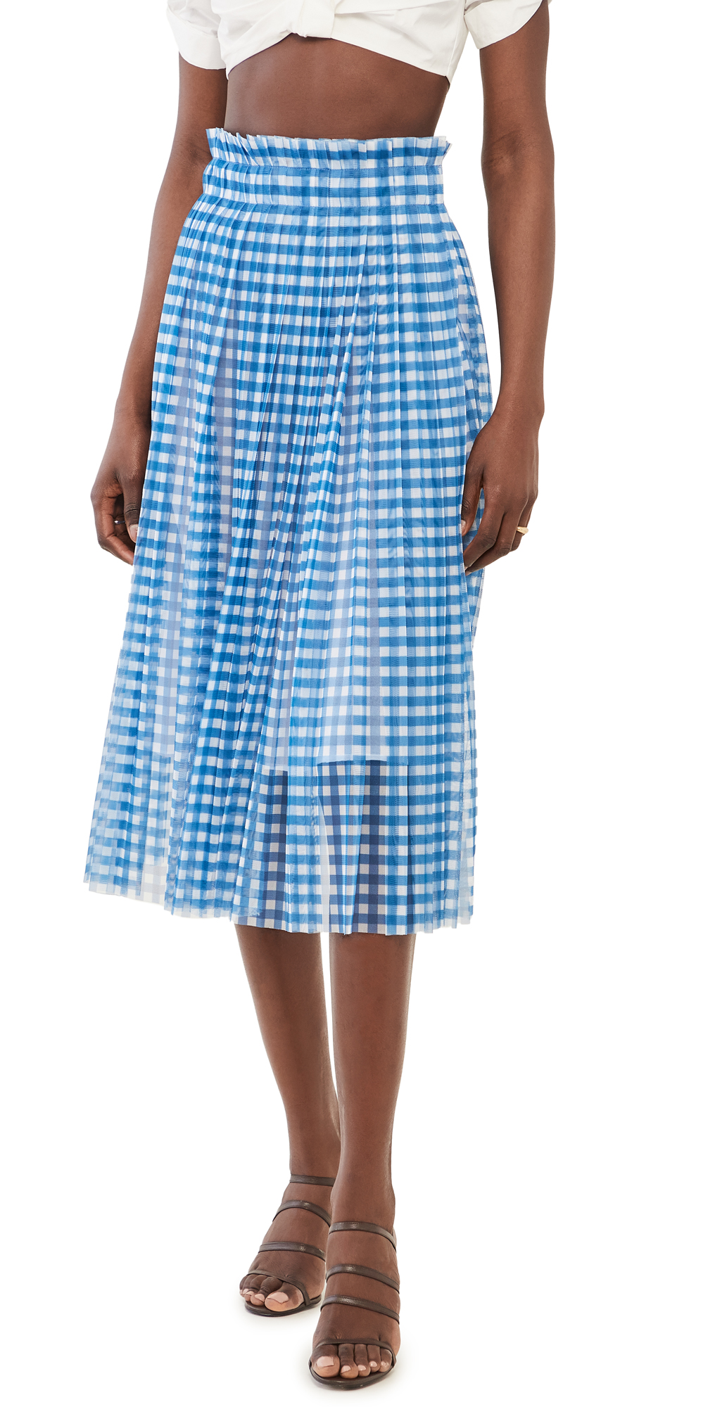 Philosophy di Lorenzo Serafini Printed Tulle Midi Skirt