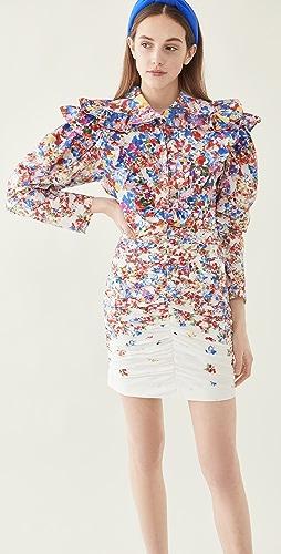 Philosophy di Lorenzo Serafini - Floral Printed Poplin Ruffle Dress