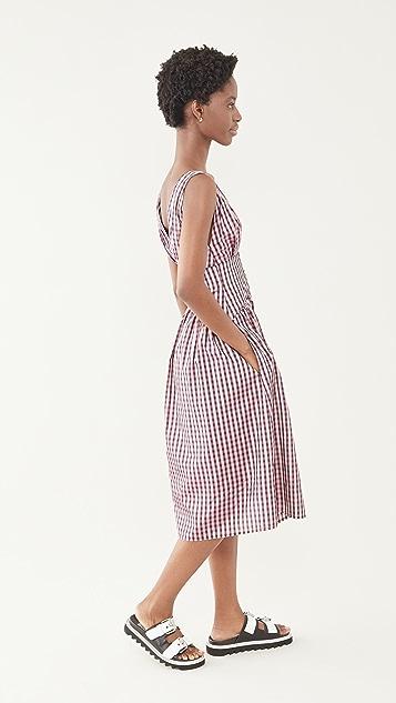 Philosophy di Lorenzo Serafini Vichy Taffeta Midi Dress
