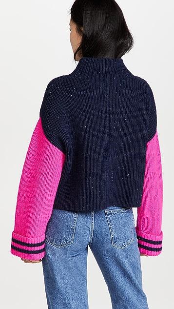 Philosophy di Lorenzo Serafini Pure Wool Colorblock Sweater