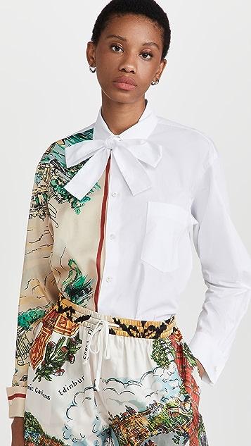 Philosophy di Lorenzo Serafini 府绸 & 印花斜纹织物超大女式衬衫