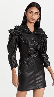 Philosophy di Lorenzo Serafini Faux Leather Mini Dress