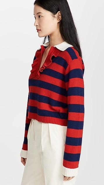 Philosophy di Lorenzo Serafini Cashmere Blend Polo Sweater