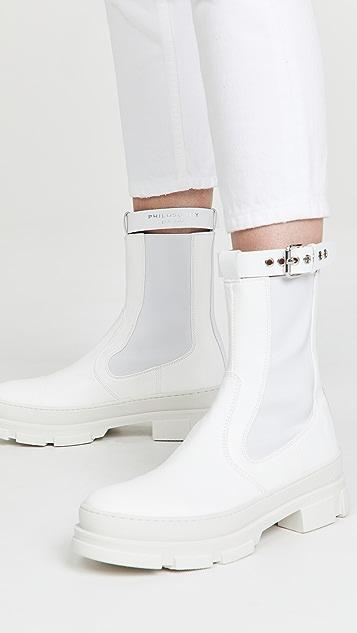Philosophy di Lorenzo Serafini 搭扣橡胶鞋底靴子