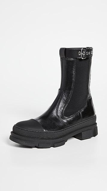 Philosophy di Lorenzo Serafini Rubber Sole Boots with Buckle