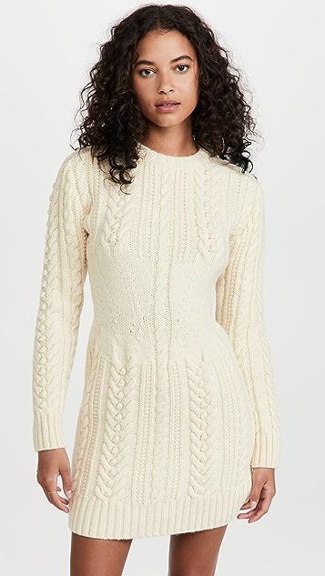 Philosophy di Lorenzo Serafini Virgin Wool Sweater Dress