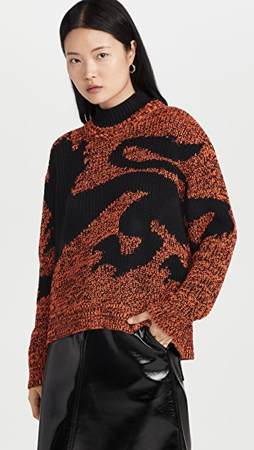 Philosophy di Lorenzo Serafini Wool Blend Motif Sweater