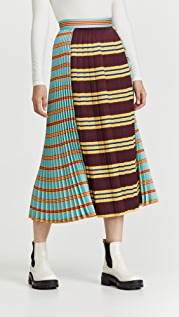 Philosophy di Lorenzo Serafini Gabardine Pleated Midi Skirt