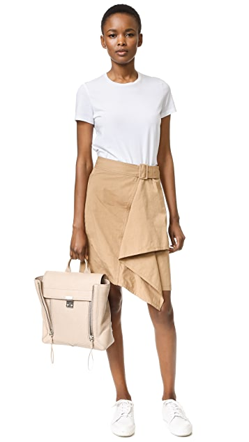 3.1 Phillip Lim Trench Skirt with Cascading Drape