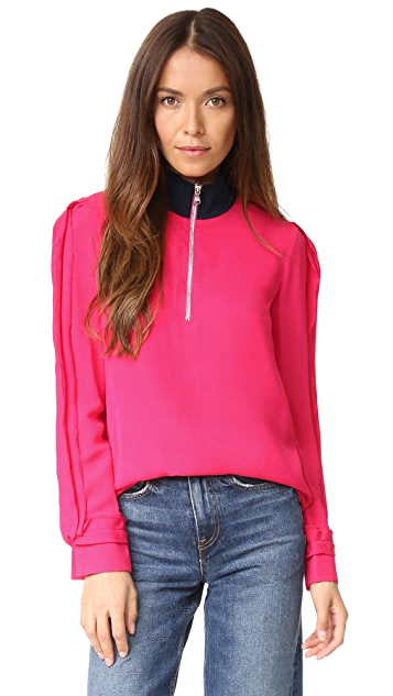3.1 Phillip Lim Blouse with Front Zip