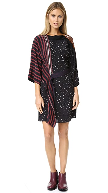 3.1 Phillip Lim Kimono Dress with Cascading Ribbon