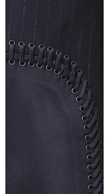 3.1 Phillip Lim Sack Dress with Curved Lacing