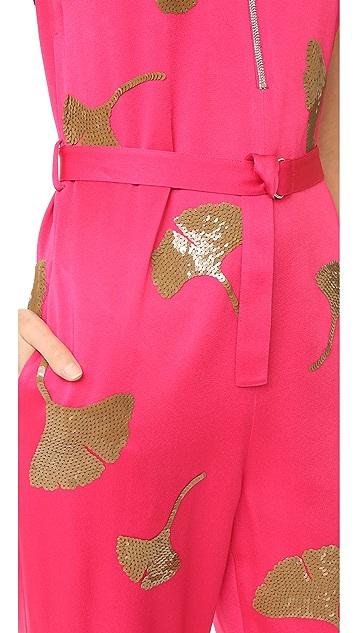 3.1 Phillip Lim Sleeveless Ginkgo Embellished Jumpsuit