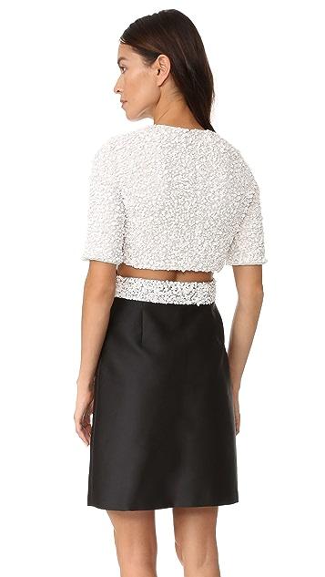 3.1 Phillip Lim Short Sleeve Cluster Sequin Dress