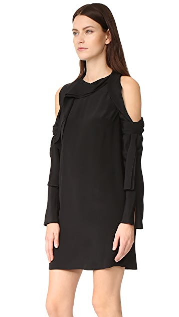 3.1 Phillip Lim Long Sleeve Cold Shoulder Dress