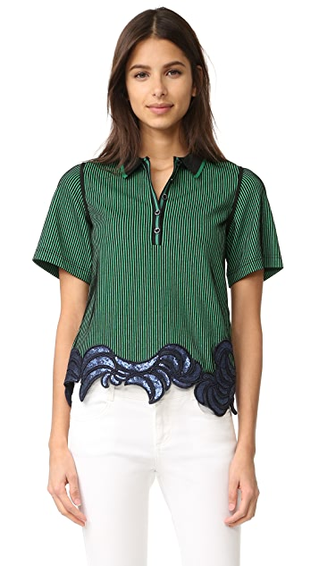 3.1 Phillip Lim Embroidered Polo Tee