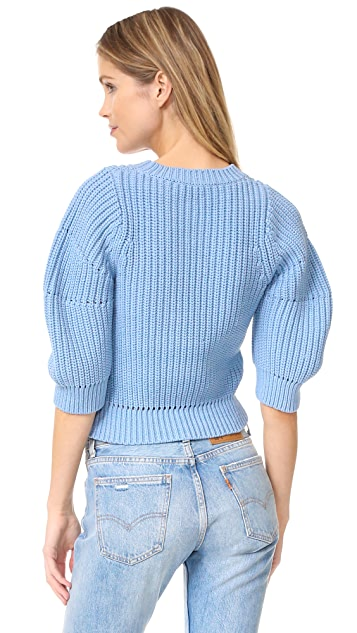 3.1 Phillip Lim Chunky 3/4 Sleeve Sweater