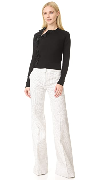 3.1 Phillip Lim Ruffle Sport Pullover with Zippers