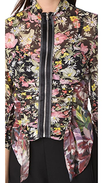 3.1 Phillip Lim Meadow Flower Ruched Top